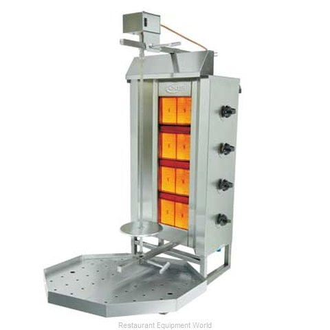 Axis AX-VB4 Vertical Broiler Gyro Gas (Magnified)