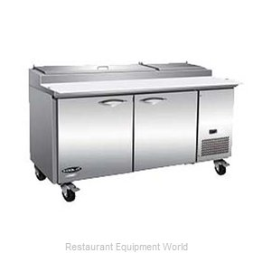 MVP Group KPP67-2D Refrigerated Counter, Pizza Prep Table