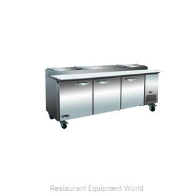 MVP Group KPP93 Refrigerated Counter, Pizza Prep Table