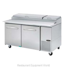 MVP Group KPT-67-2 Refrigerated Counter, Pizza Prep Table