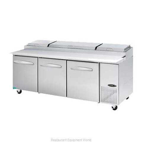 MVP Group KPT-93-3 Refrigerated Counter, Pizza Prep Table
