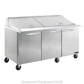 MVP Group KSTM-72-3 Refrigerated Counter, Mega Top Sandwich / Salad Unit