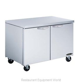 Kool-It KUCF-48-2 Reach-In Undercounter Freezer 2 section