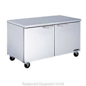 Kool-It KUCF-60-2 Reach-In Undercounter Freezer 2 section