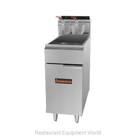MVP Group SRF-40/50 Fryer, Gas, Floor Model, Full Pot