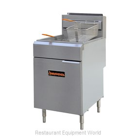 MVP Group SRF-75/80 Fryer, Gas, Floor Model, Full Pot