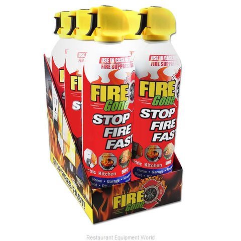 Max Pro FG6-067-106 Fire Gone 6-can Countertop Display