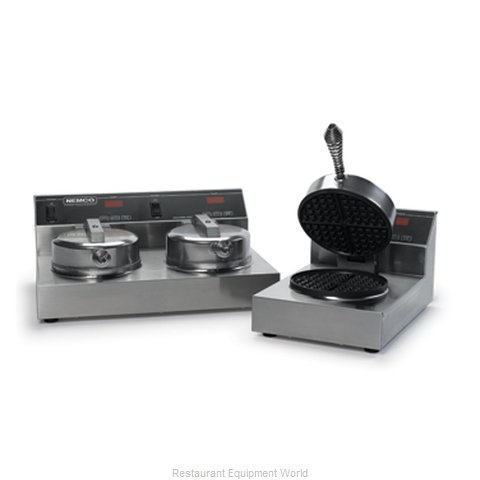 Nemco 7000-2S240 220V Double Waffle Iron Baker With Silverstone Coatin