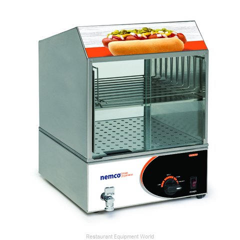 Nemco 8301 Hot Dog Steamer (Magnified)