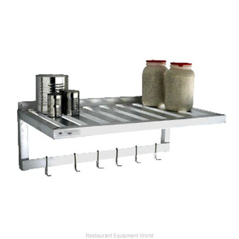 New Age 1121PR Overshelf, Wall-Mounted With Pot Rack (Magnified)