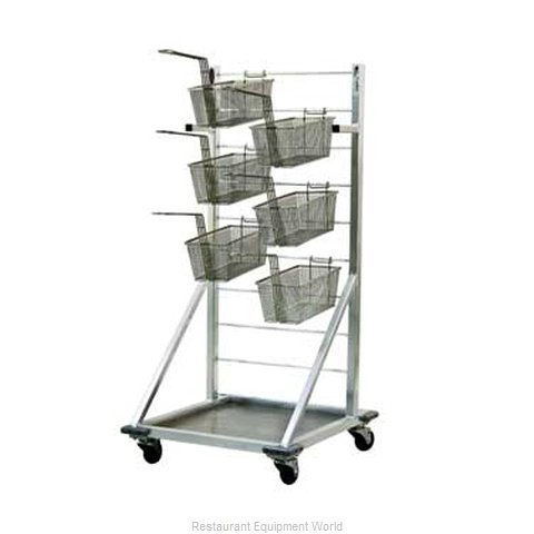 New Age 1215 Fryer Basket Rack, Mobile (Magnified)