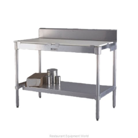 New Age 24PBS72KD Work Table Poly Top