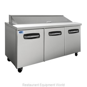 Nor-Lake NLSP72-18 Sandwich Food Prep Table (NOR-NLSP72-18)