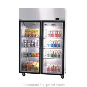 Nor-Lake PR524SSG/0X Pass-Thru Refrigerator 2 sections
