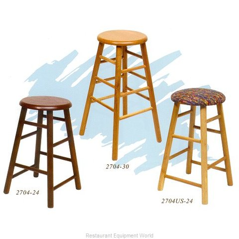 Old Dominion 2704US-24 Oak Bar Stool (Magnified)