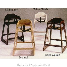 Old Dominion S-2 Stackable Wooden High Chair -Dark Walnut Color