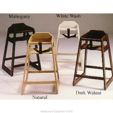 Old Dominion S-4 Stackable Wooden High Chair -Whitewash Color