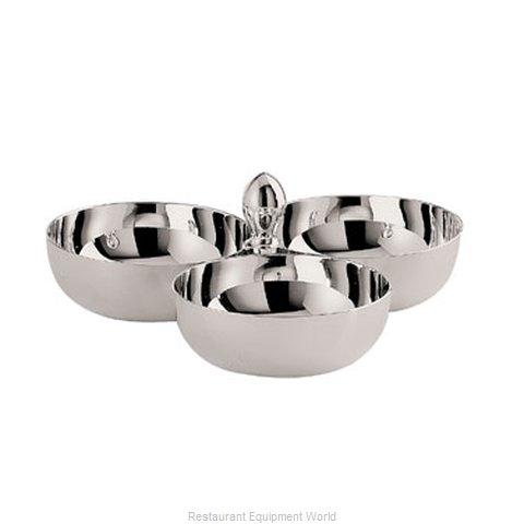 Oneida Crystal J0061011A Relish Dish, Metal