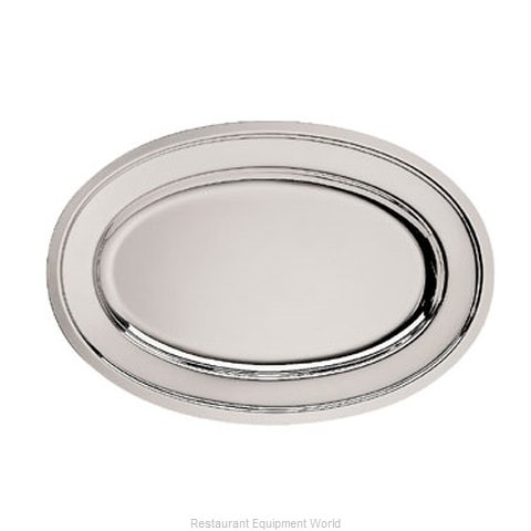 Oneida Crystal K0012742A Platter, Silverplate (Magnified)