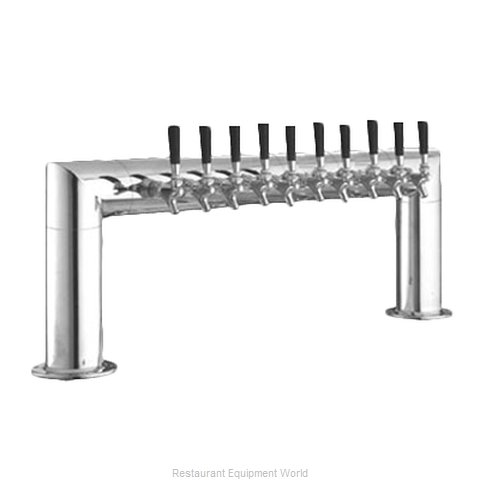 Perlick 4009-10B Pipe Tower Beer Dispenser (Magnified)