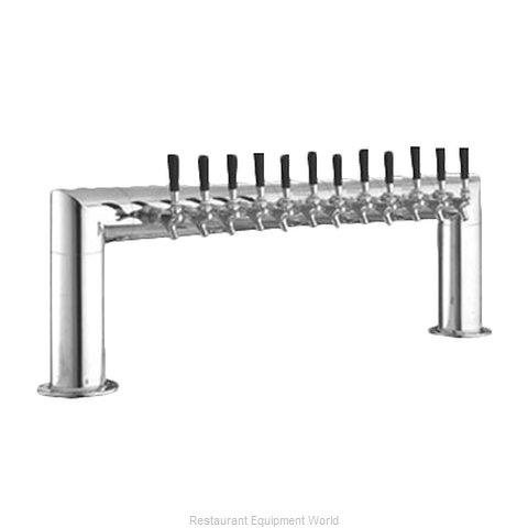 Perlick 4009-12B Pipe Tower Beer Dispenser (Magnified)