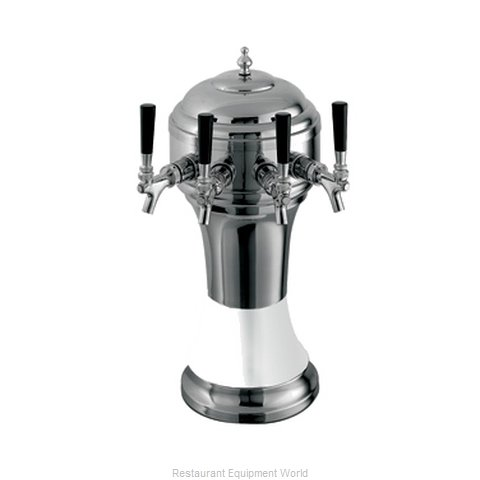 Perlick 4056WH4BPC Roma Tower Beer Dispenser