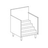 Perlick 7055A3 Underbar Bottle Step Display Unit