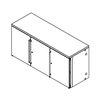 Perlick BBR72 Back Bar Cabinet, Refrigerated