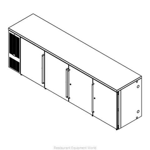 Perlick BBS108B-S-4 Back Bar Cabinet, Refrigerated