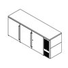 Perlick BBS84S-S Back Bar Cabinet, Refrigerated