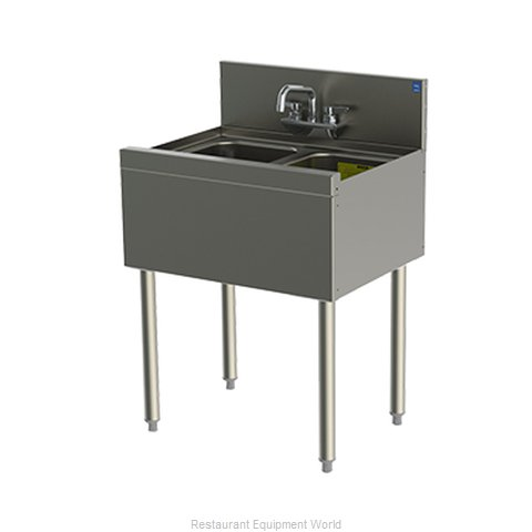 Perlick TS22C Underbar Sink (Magnified)