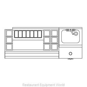 Perlick UCS60A-LF Underbar Ice Bin/Cocktail Station, Blender Station