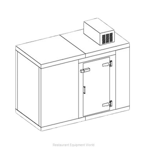 Perlick US4KP Walk In Cooler, Modular, Self-Contained