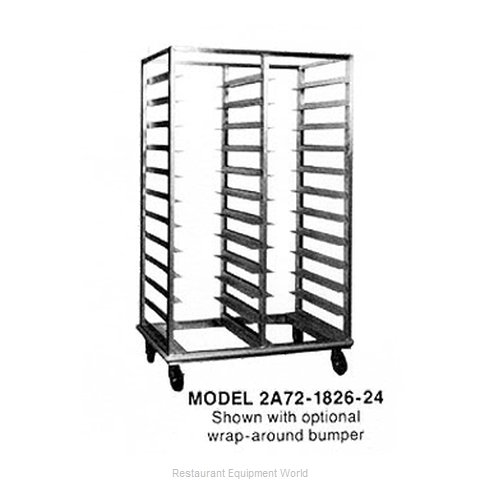 Piper Products 2A72-1826-40 Rack Mobile Tray Double Compartment
