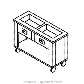 Piper Products 2HFSL Serving Counter, Hot Food, Electric