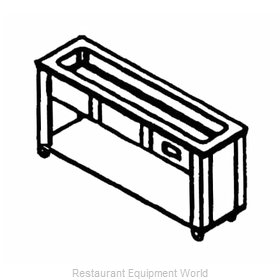 Piper Products 3-CISL Serving Counter, Cold Food