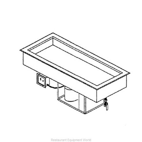 Piper Products 3-CMDI Cold Pan Food Unit Drop-In