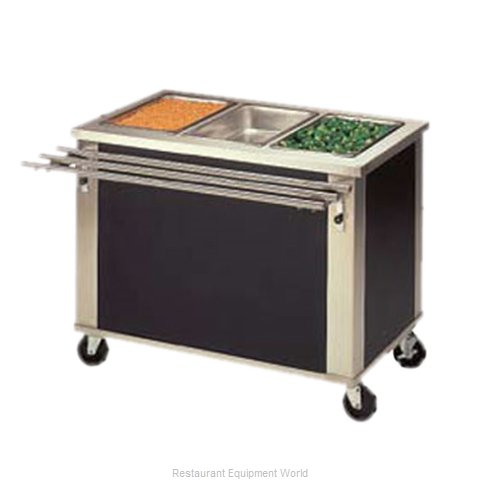Piper Products 3-HF Serving Counter Hot Food Steam Table Electric