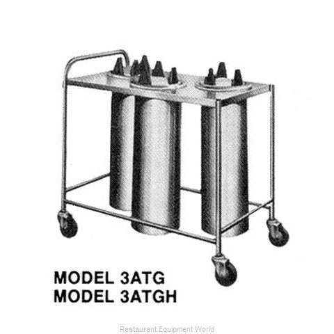 Piper Products 3ATGH7 Dispenser, Plate Dish, Mobile