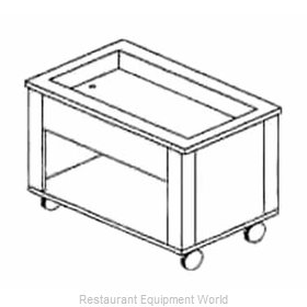 Piper Products 4-HCM Serving Counter, Hot & Cold