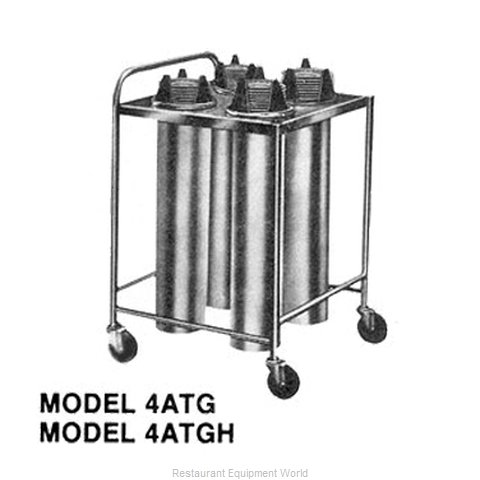 Piper Products 4ATGH7 Dispenser, Plate Dish, Mobile