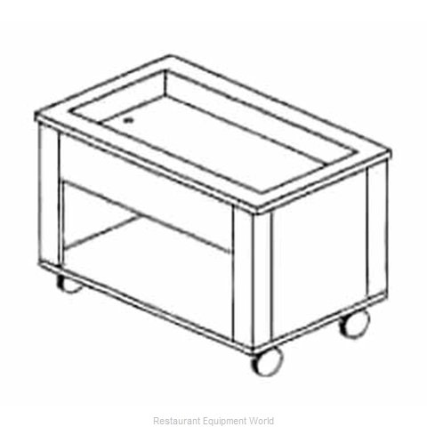 Piper Products 5-HCI Serving Counter Hot and Cold Buffet