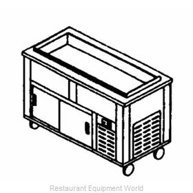Piper Products 6-CB Serving Counter, Cold Food