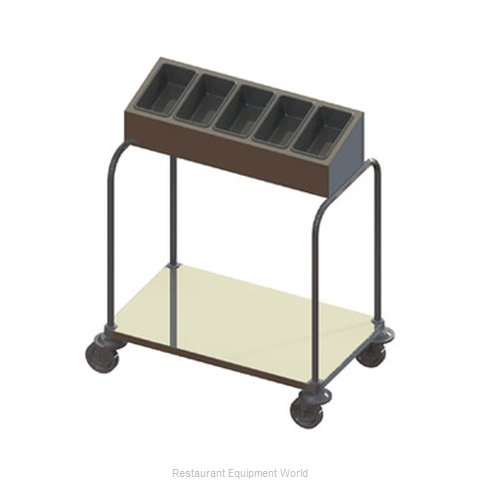 Piper Products 715-1-A10 Tray and Silver Cart