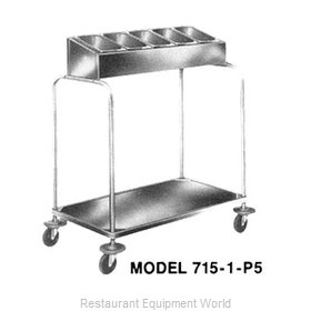 Piper Products 715-1-P5 Flatware & Tray Cart