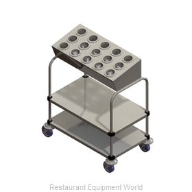 Piper Products 715-2-A15 Flatware & Tray Cart