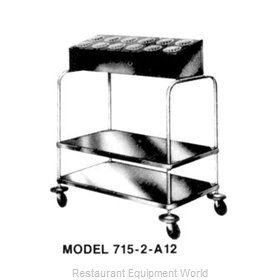 Piper Products 715-2-A8 Flatware & Tray Cart