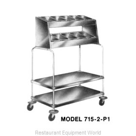 Piper Products 715-2-P8 Flatware & Tray Cart