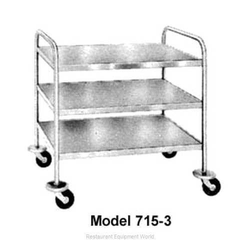 Piper Products 716-1-A6 Tray and Silver Cart