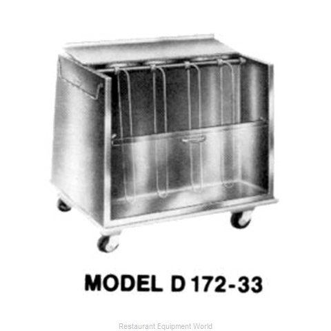Piper Products DH172-33 Cart, Heated Dish Storage